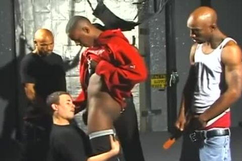 wild White guys Opens Wide For Interracial Gangbanging enjoyment