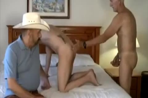 daddy Cowboy And friend plow young twink