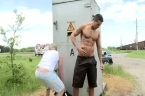 Public Sex With nice-looking blond