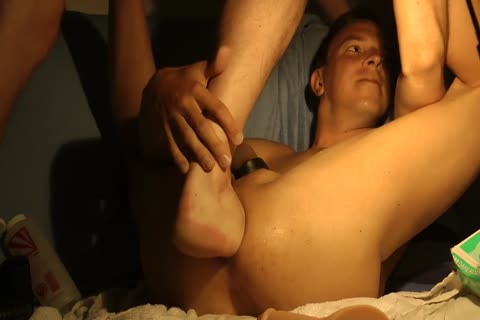 My friend _FFirstAct_ (_nonstop81_) Licking, Fisting, Foot-fucking My gap And Opening It Up With Various Dildos, Including Caterpillar.