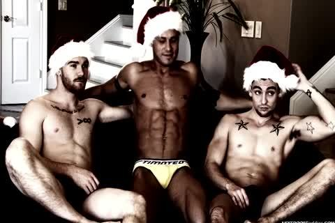 A homosexual Christmas orgy In This Great video scene