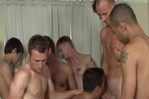 dilettante Facialized During amazing gay group sex