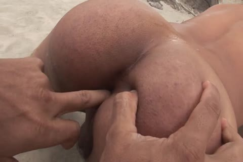 Tanned young lad nailed hardcore By His Boyfriend's 10-Pounder On The Beach