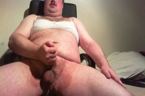 plump lad jerking off In Bra And Pants
