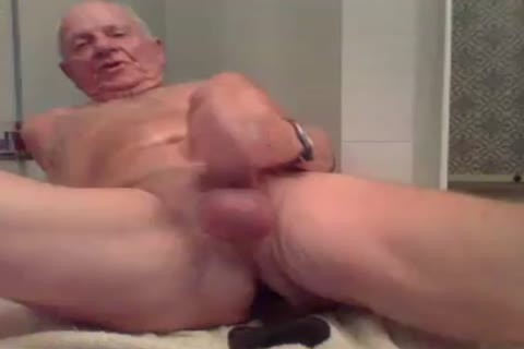 grand-dad jerk off jerk off With  A fake penis In wazoo And love juice