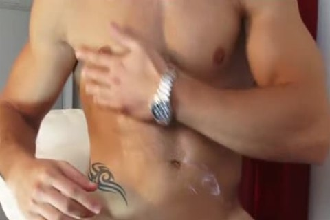 My Gym Trainer Made A Orn clip: Watch His biggest cock gets Wanked!