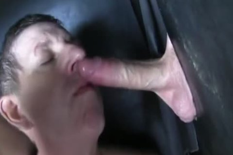 Super enormous Uncut penis str8 Aussie Max receive's Sucked Off At The Gloryhole.