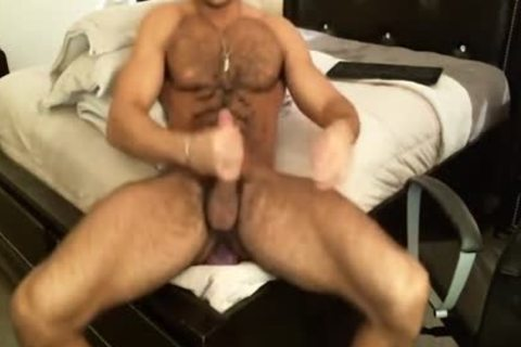 bushy Sean Zevran Dildos On cam And Cums Twice