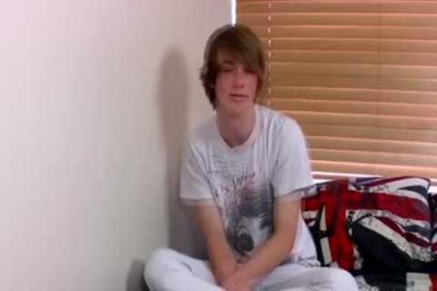 Ginger Emo twink Kai Alexander Pleasures Himself On A couch