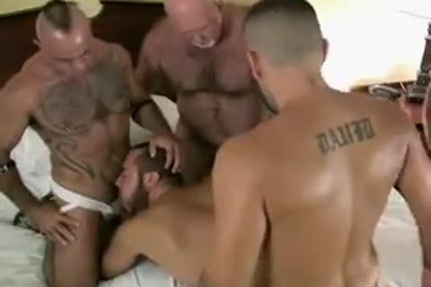 bare Bear Daddy gangbang