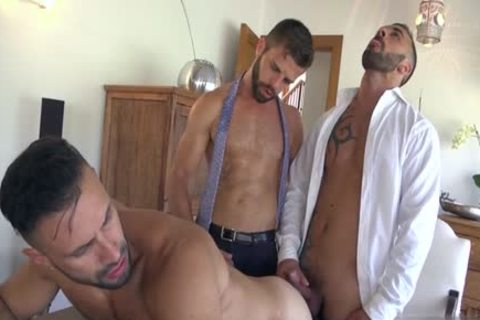 Muscle homo threesome And goo flow