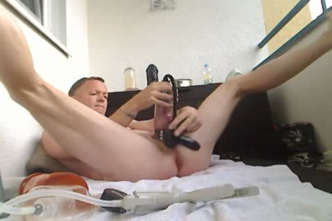 Pumping My weenie And ass, sex tool bang