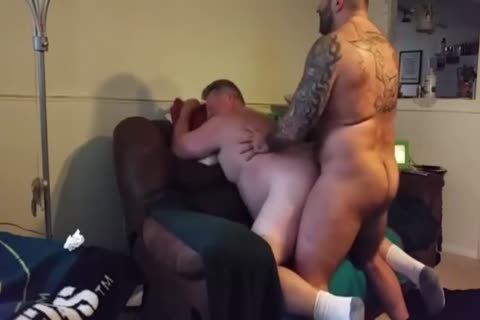bulky Daddy receives plowed By Muscle Bear