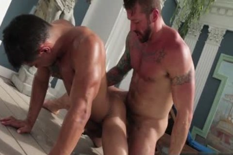 Tattoo gay butthole-copulation With cumshot