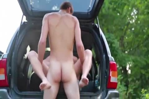 sexy bushy Blond plowed Outdoor By Hung young M