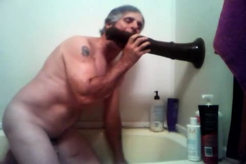 old guy Plays With His Fleshlight In Shower