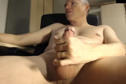 daddy Jerking His cock At The Office