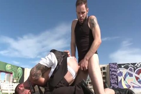 tied Rooftop fucking
