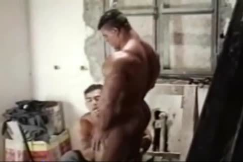 Brasil Bodybuilders enormous booty pounded By Hunk