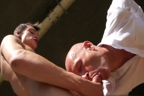 Tattoo twink Dap With ejaculation