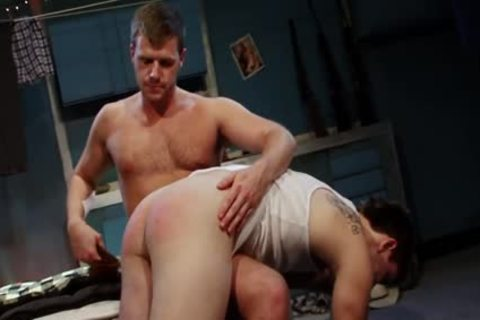 Spanked And nailed For engulfing Himself