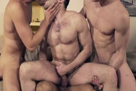 sleazy gay double penetration And Facial