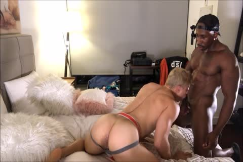 blonde Interracial butthole plowing And wazoo Licking