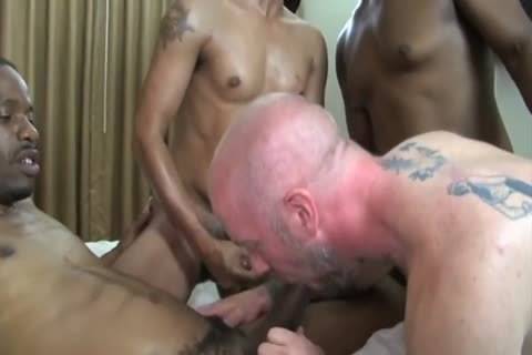Dilf acquires gangbanged bare
