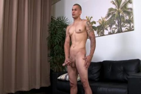Hung pumped up Hunk Stroking His biggest Uncut penis