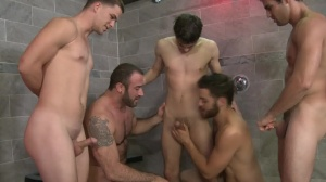 sperm Shower - Tommy Defendi & Spencer Reed bathroom dril