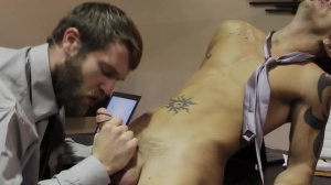 The Boardroom - Colby Keller and Shane Frost butthole sex