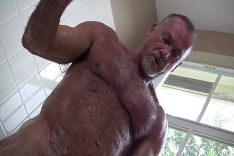 nasty Muscle Daddy Mikey Shower jack off
