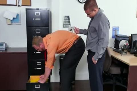 GRAB arse - new Employee gets Broken In By The Boss, Adam Bryant
