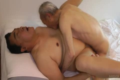 Japanese bulky Daddy Sex With biggest shlong old man