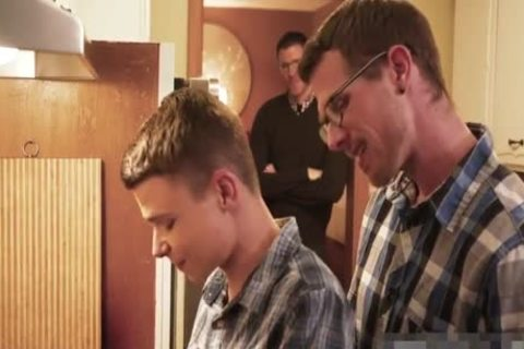 charming teen Barebacked By Two Daddys