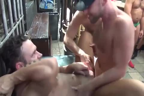 MusclePup Logan Moore Acquires group plowed Barebacked poke