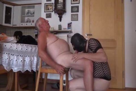 Super enchanting old man And Masked Unusual lad engulf And plow On