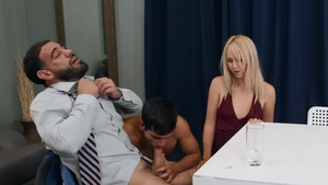 Men.com: Wet Ricky Larkin cum on face and Ty Mitchell indoors