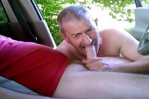 concupiscent homosexual fellows On Car Have Some Public And Outdoor Sex