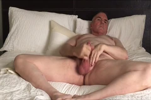 Stroking My small ramrod And Eating My Load