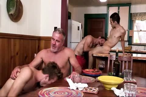 guys Have joy With Step-daddy And Grampa