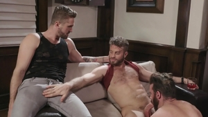 Icon Male: Wesley Woods and Brendan Patrick dick sucking
