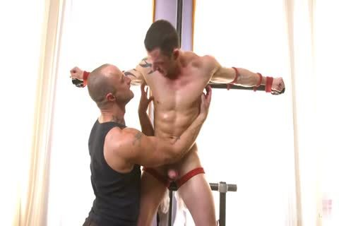 muscular lad Edged In thraldom