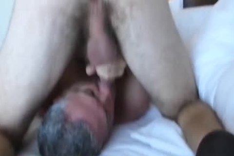 Bearded hairy 3-WAY With A playgirl: RIM-CHAIN blowjob-69-BB-HJ-sperm