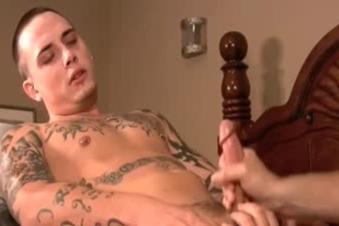 Ink Laid Back Tattooed Sk8ter gets His First gay blowjob