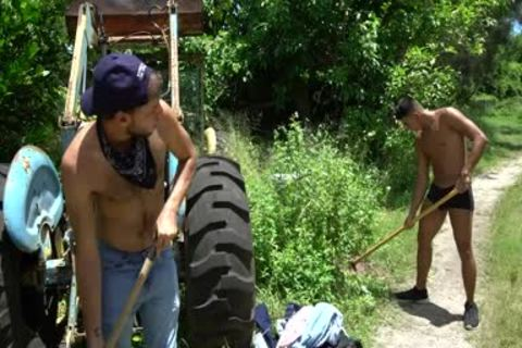 Naught Farmers Jay Seabrook & Tim Hanes get Sweaty Doing Some Outdoor Work